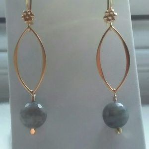 Faceted Labradorite & Gold Vermeil Dangle Earrings